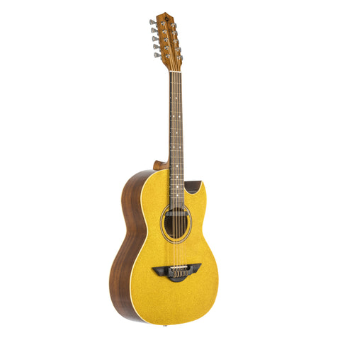 H. Jimenez El Estandar Acoustic / Electric Bajo Quinto Gold Sparkle