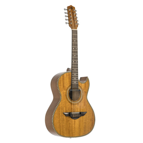 H. Jimenez El Estandar Acoustic / Electric Bajo Quinto Natural Mahogany