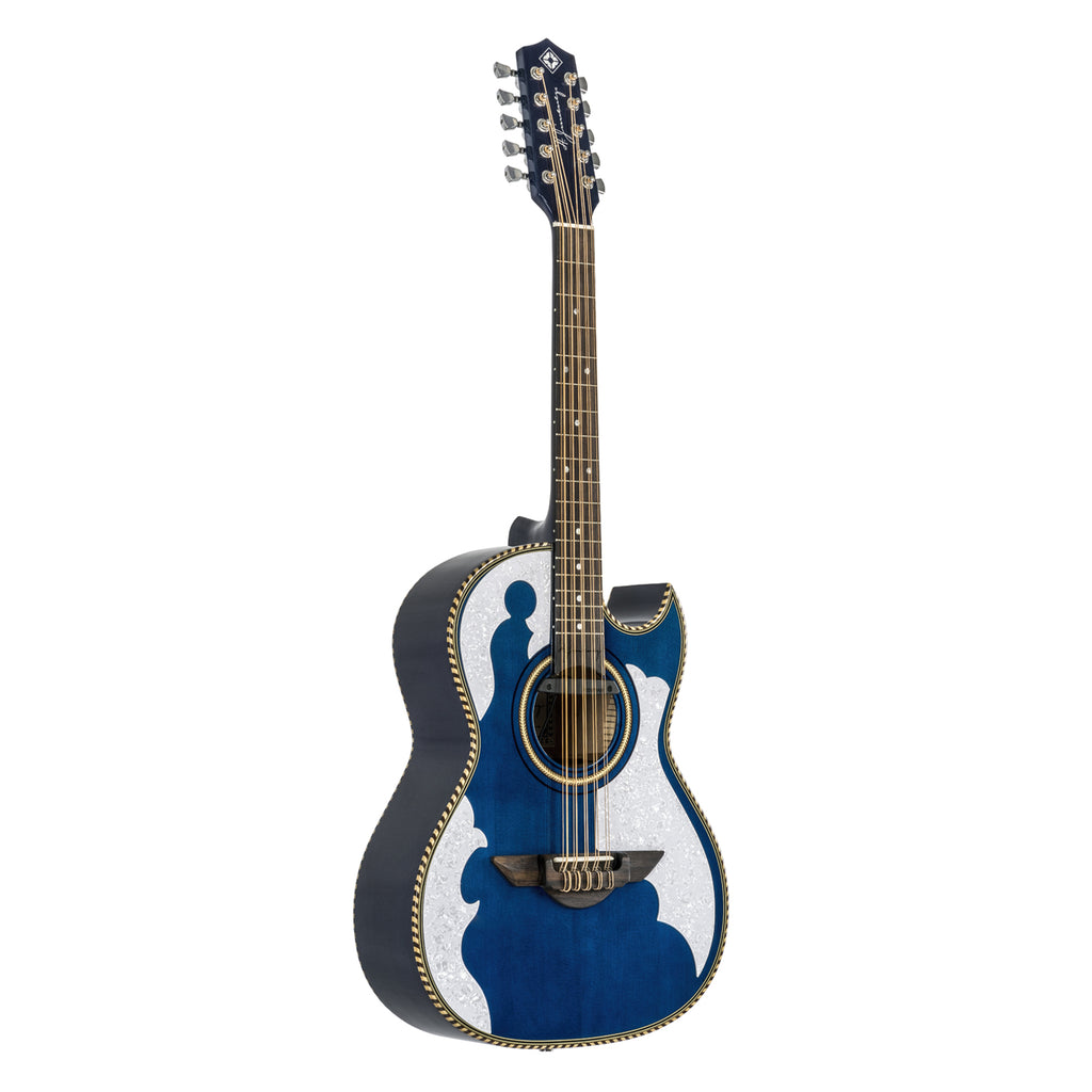 H. Jimenez El Patron Acoustic / Electric Bajo Quinto Transparent Blue