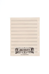 Archives Looseleaf Manuscript Paper , 10 Stave, 50 Pages