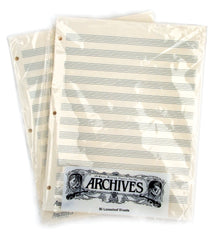 Archives Looseleaf Manuscript Paper , 12 Stave, 50 Pages