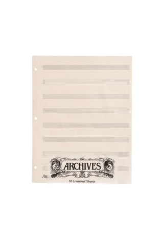 Archives Looseleaf Manuscript Paper , 8 Stave, 50 Pages