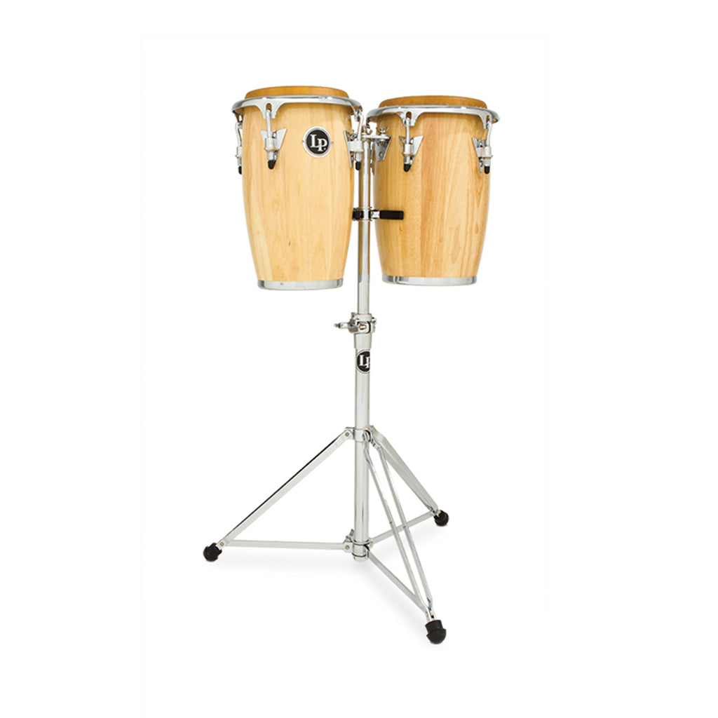 "Latin Percussion LP Jr 8""/9"" Junior Conga Set with Double Stand Natural"