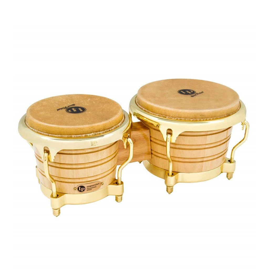 Latin Percussion LP Generation II Wood Bongos Gold