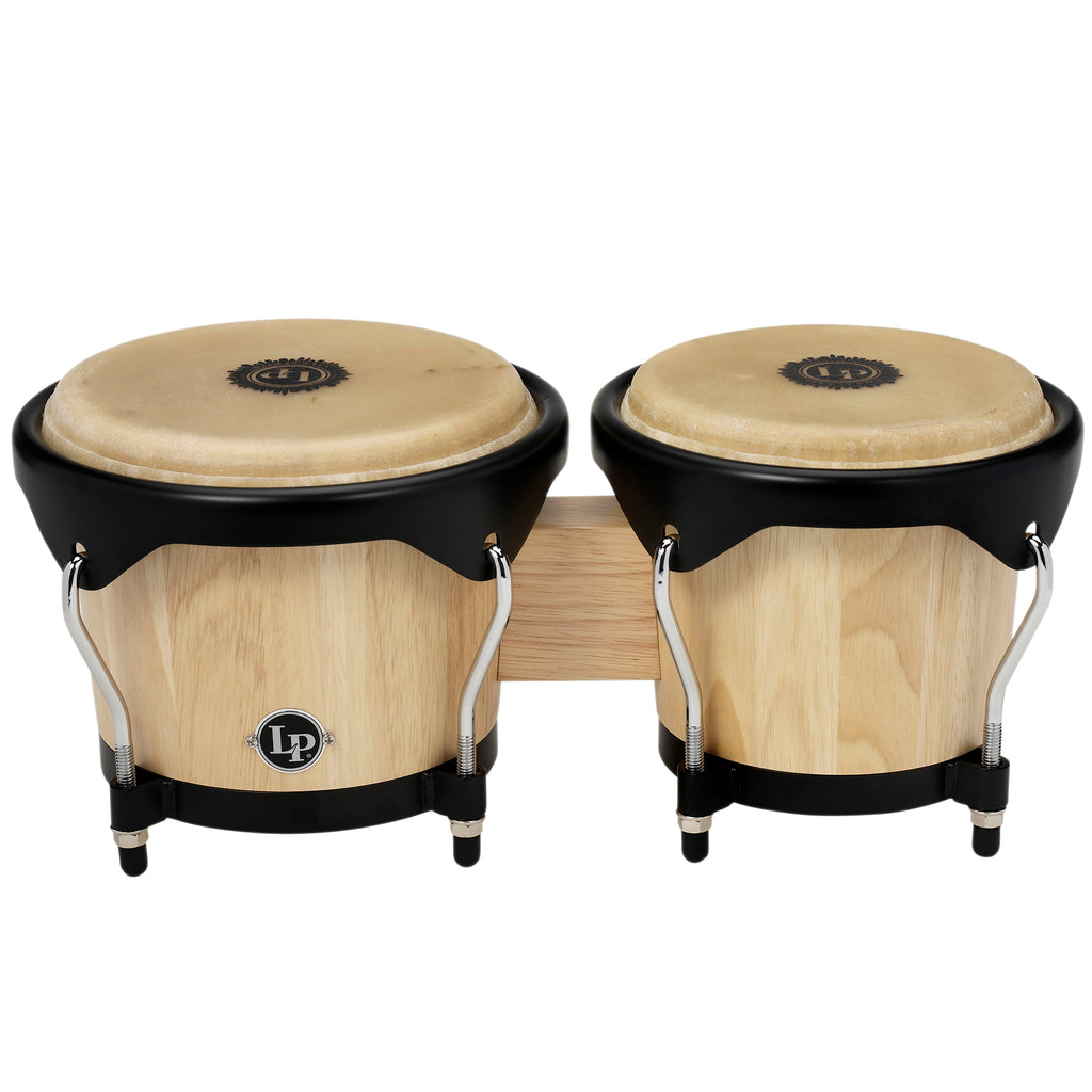 Latin Percussion LP City Series Wood Bongos Natural