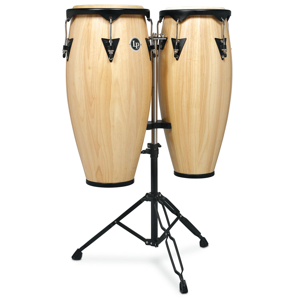 "Latin Percussion LP City Series 10""/11"" Conga Set with Double Stand Natural"