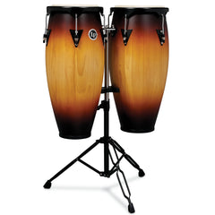 "Latin Percussion LP City Series 10""/11"" Conga Set with Double Stand Vintage Sunburst"