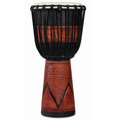Latin Percussion LP World Beat Wood Art Djembes Large Black/Brown