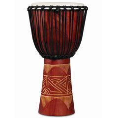 Latin Percussion LP World Beat Wood Art Djembes Large Red/Natural