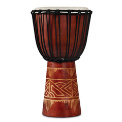 Latin Percussion LP World Beat Wood Art Djembes Medium Red/Natural