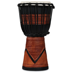 Latin Percussion LP World Beat Wood Art Djembes Small Black/Brown
