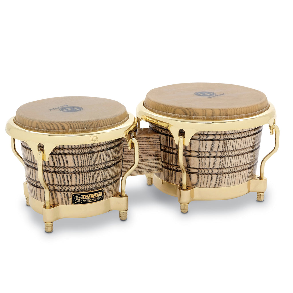 Latin Percussion LP Galaxy Giovanni Wood Bongos Gold Hardware