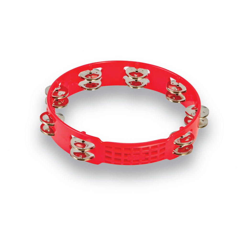 Latin Percussion LP Aspire 10 Inch Tambourine, Red