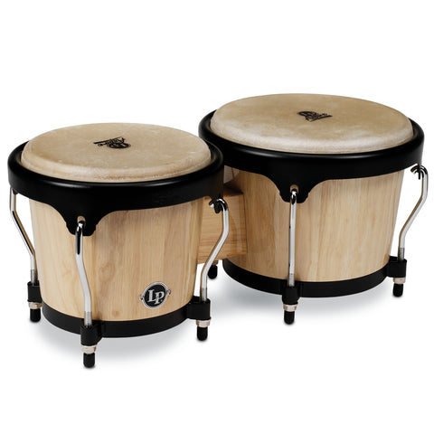 Latin Percussion LP Aspire Wood Bongo Natural