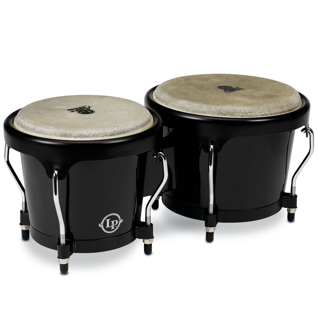 Latin Percussion LP Aspire Fiberglass Bongos Black