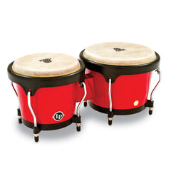 Latin Percussion LP Aspire Fiberglass Bongos Red