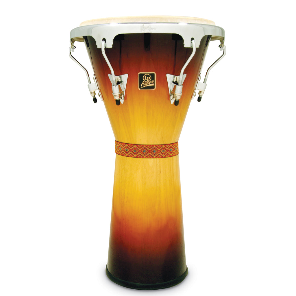 Latin Percussion LP Aspire Tunable Djembe Vintage Sunburst/Chrome