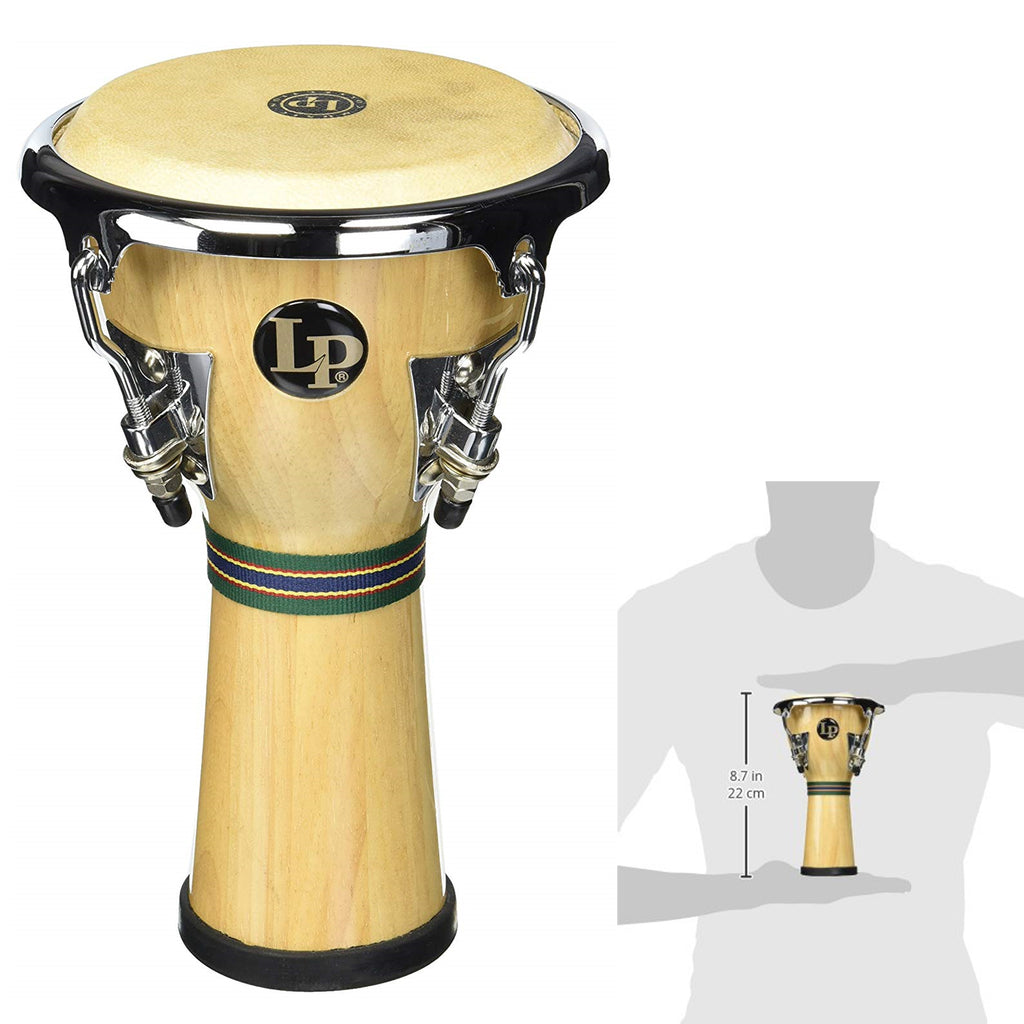 "Latin Percussion LP Music Collection Mini Percussion Djembe, 8 1/4"" Tall"