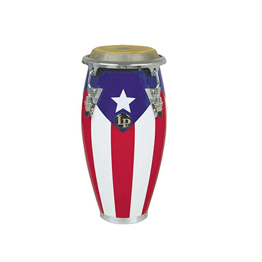"Latin Percussion LP Mini Conga 11"" Tall Puerto Rico Flag"