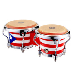 Latin Percussion LP Mini Bongo Puerto Rico Flag