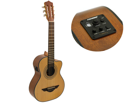H. Jimenez Voz de Trio Acoustic Electric Requinto with Gig Bag