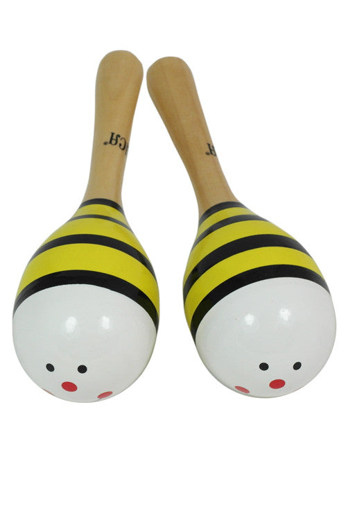 D'Luca Kids 7.5 Inches Bumble Bee Wood Maracas