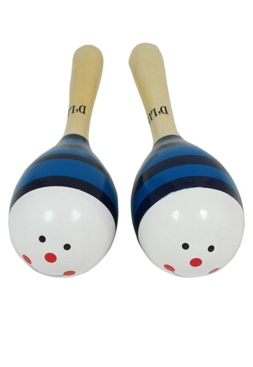 D'Luca Kids 7.5 Inches Blue Hummingbird Wood Maracas