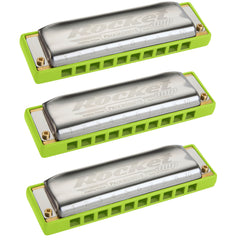 Hohner Progressive Series Rocket Amp Harmonica 3-Pack Key of C G A