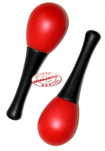 D'Luca Kids 4.75 inches Small Plastic Red Maracas