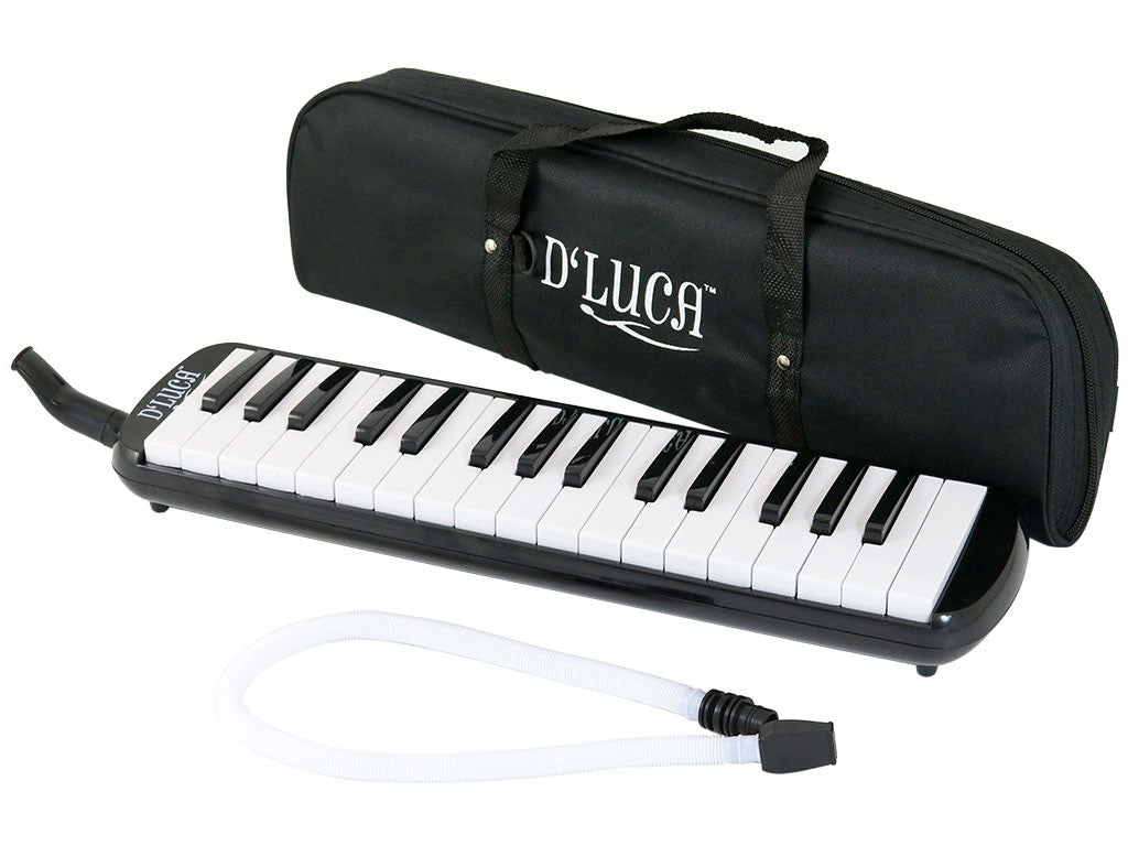 D'Luca Black 32 Key Melodica with Gig Bag