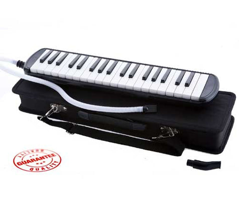 D'Luca Black 37 Key Melodica with Case