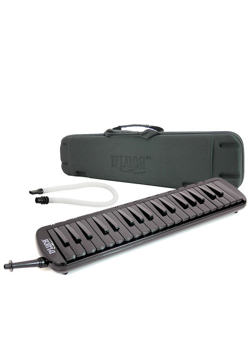 D'Luca Black 37 Key Jungle Melodica with EVA Carrying Case