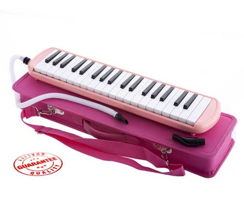 D'Luca Pink 37 Key Melodica with Case