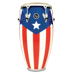 Latin Percussion LP Matador Wood 11 3/4 in Conga Puerto Rican Flag