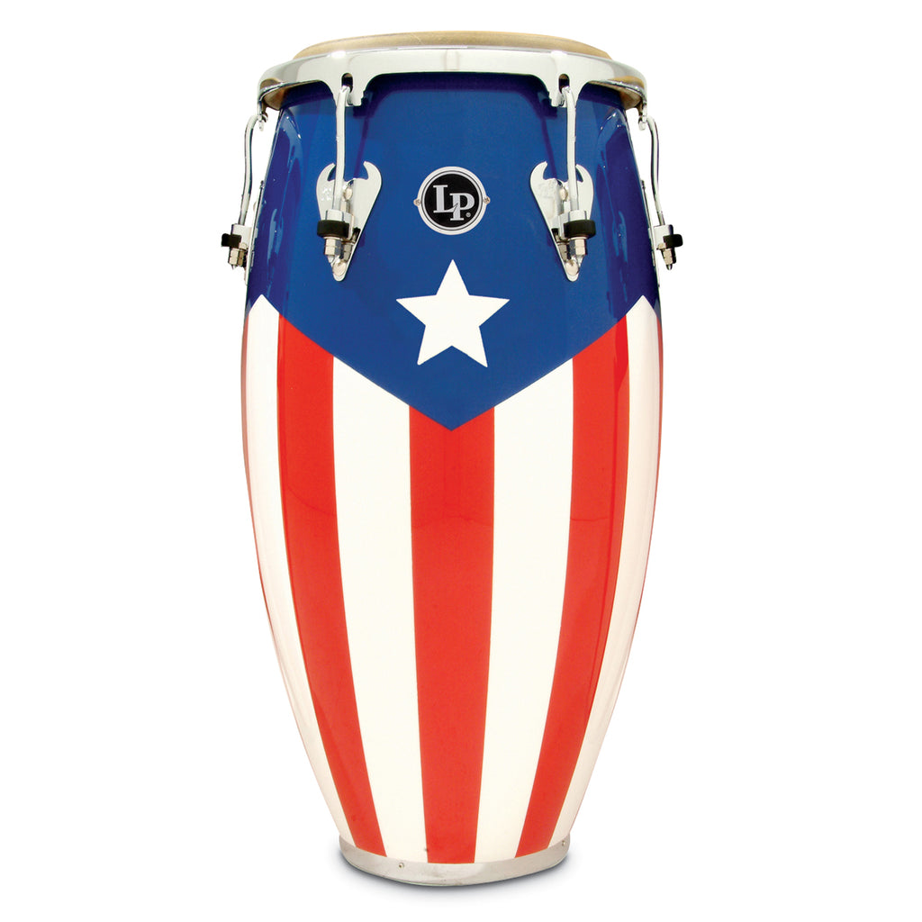 Latin Percussion LP Matador Wood 12 1/2 in Tumba Puerto Rican Flag