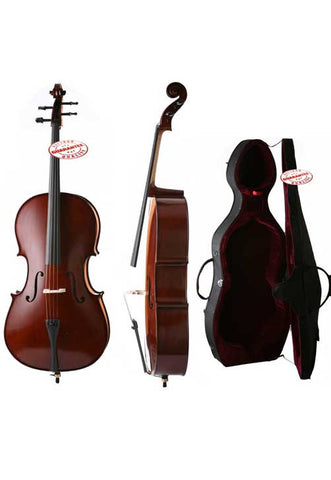 D'Luca Meister Handmade Ebony Fitted Cello With Hard Case 1/4