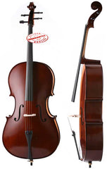 D'Luca Meister Handmade Ebony Fitted Cello 3/4