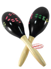 D'Luca Wood Maracas Blue 8 Inches