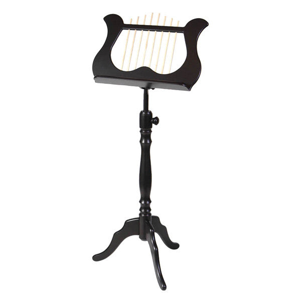 Wood Lyre Music Stand Black
