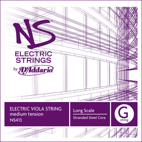 D'Addario NS Electric Viola Single G String, Long Scale, Medium Tension