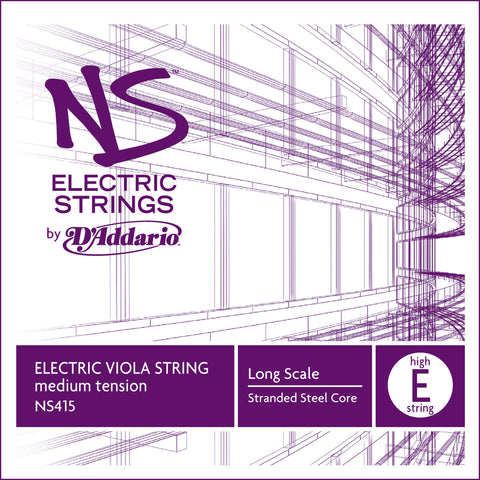 D'Addario NS Electric Viola Single Low E String, Long Scale, Medium Tension
