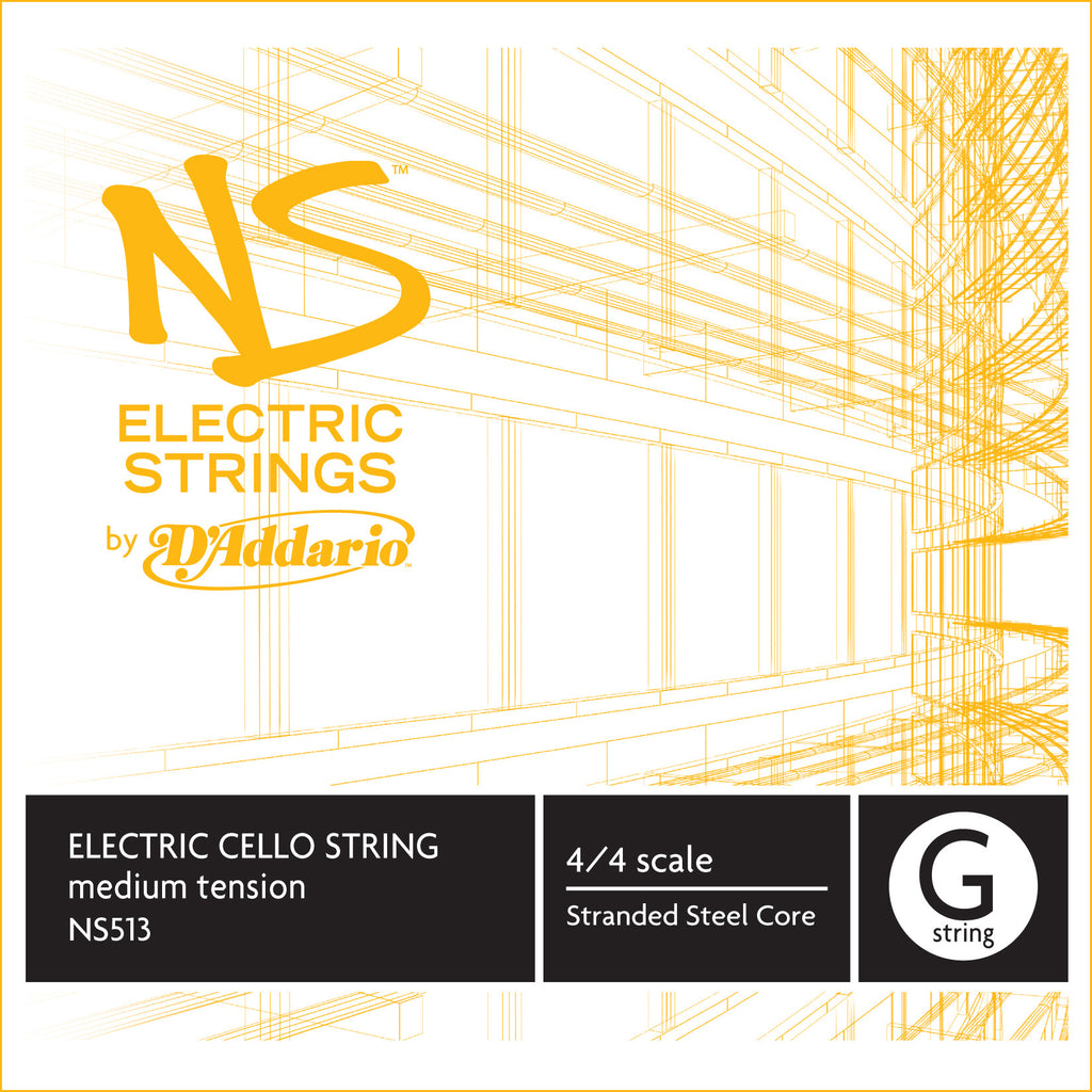D'Addario NS Electric Cello Single G String, 4/4 Scale, Medium Tension