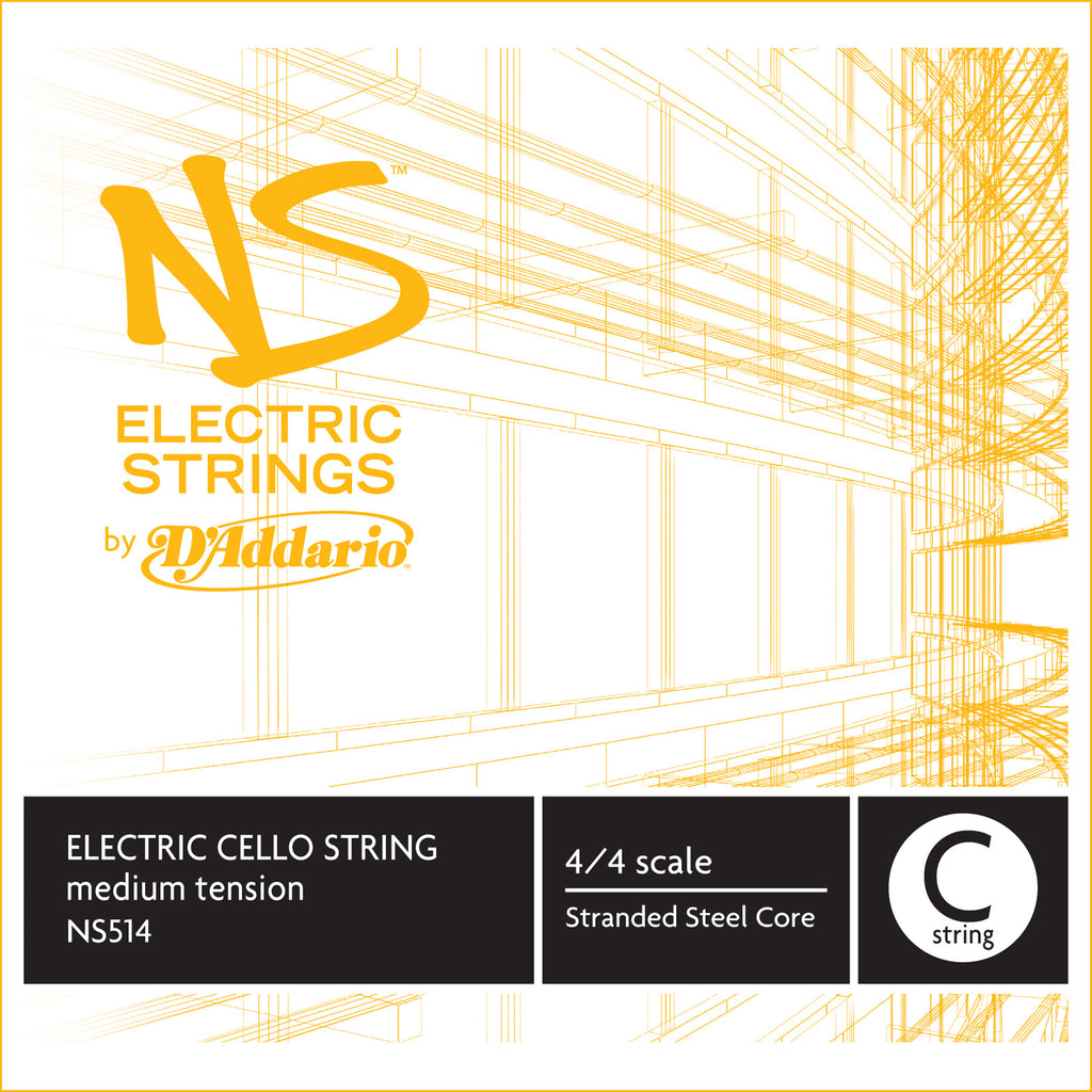 D'Addario NS Electric Cello Single C String, 4/4 Scale, Medium Tension