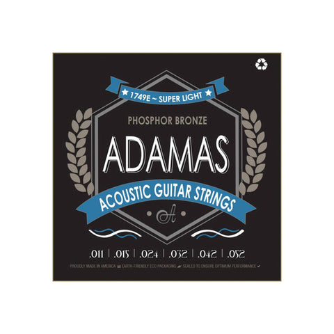 Adamas Acoustic Guitar Strings Super Light .011-.052
