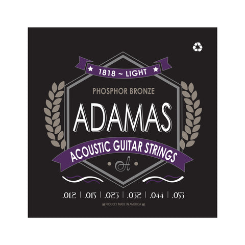 Adamas Acoustic Guitar Strings Light .012-.053