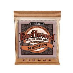 Ernie Ball Earthwood Medium Phosphor Bronze Acoustic Guitar Strings - 13-56