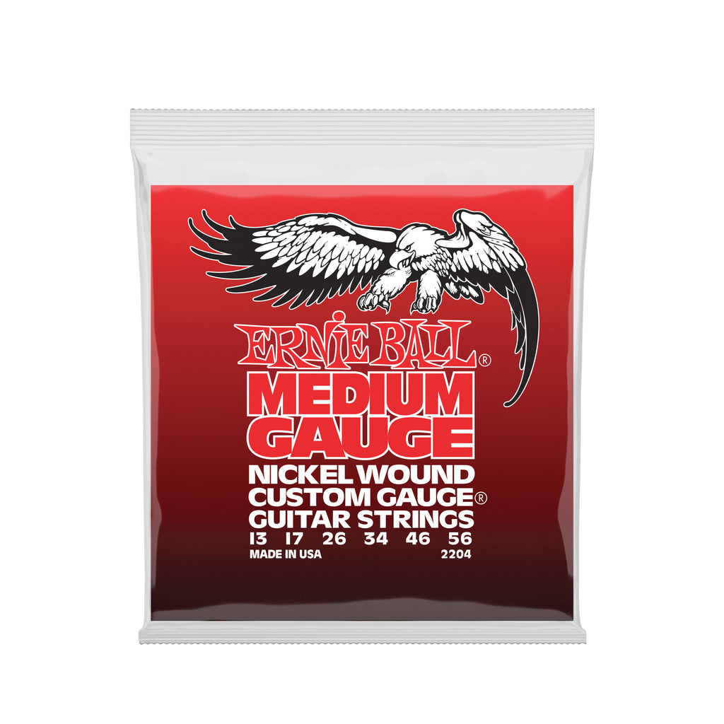 Ernie Ball Medium Nickel Wound w/ wound G Electric Guitar Strings - 13-56 Gauge
