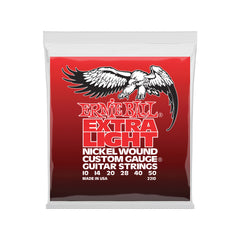 Ernie Ball Extra Light Nickel Wound w/ wound G Electric Guitar Strings - 10-50