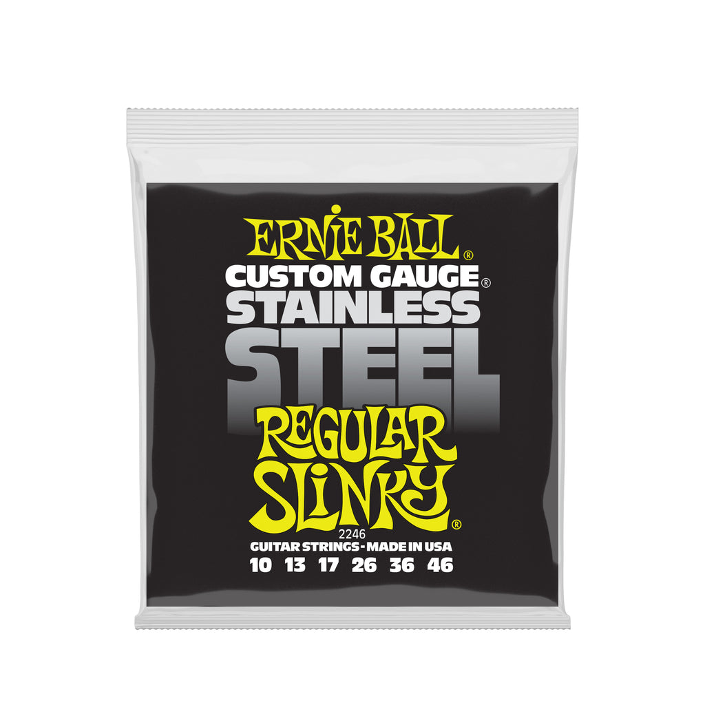 Ernie Ball Regular Slinky Stainless Steel Wound Electric Guitar Strings - 10-46