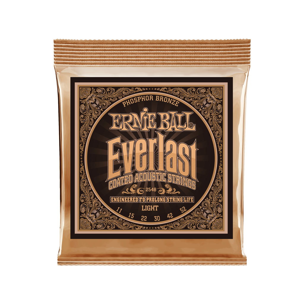 Ernie Ball Everlast Light Coated Phosphor Bronze Acoustic Guitar Strings - 11-52